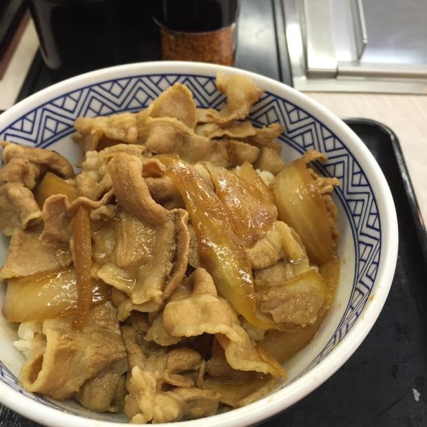 吉野家 六甲桜口店 豚丼 300円