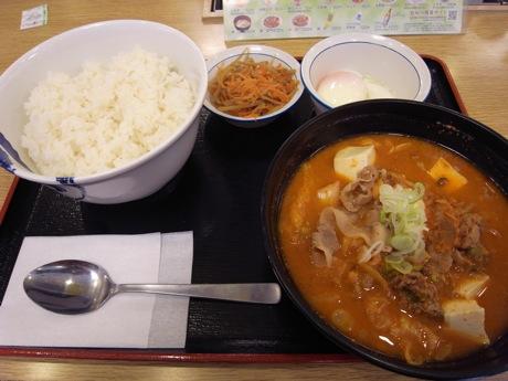 松屋:スン豆腐チゲセット