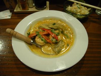 ちびちび:海老と茄子のココナッツミルクカレー